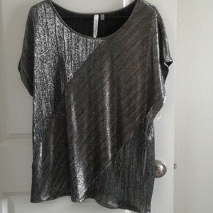 NY Collection Silver Top sz 1X NWT